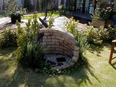 レンガ積みの水栓|埼玉県熊谷市のR様邸のエクステリア・植栽