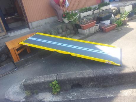 車いす用スロープ台|埼玉県比企郡小川町 O様邸の福祉住環境整備