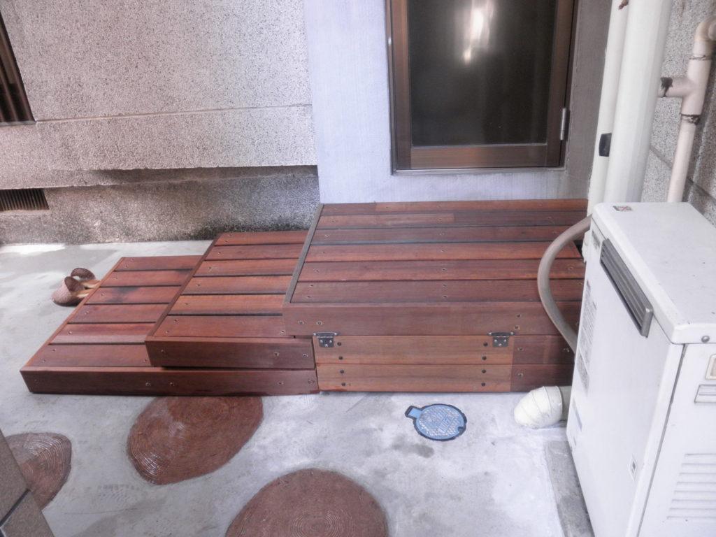 幅広ウリンの踏み段|埼玉県熊谷市 I様邸の福祉住環境整備