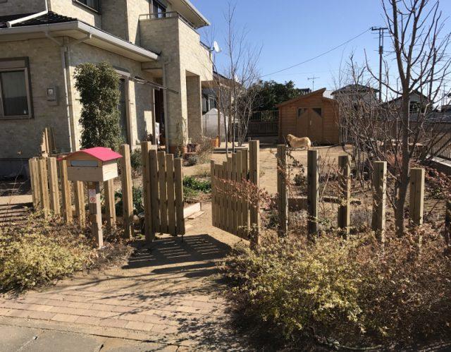 オープンスタイルのお庭をドッグランに | 埼玉県深谷市I様邸のエクステリア、外構のリフォーム工事
