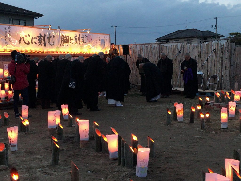 山元町主催の追悼席