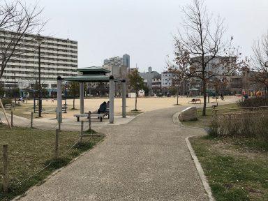 復興を遂げた公園