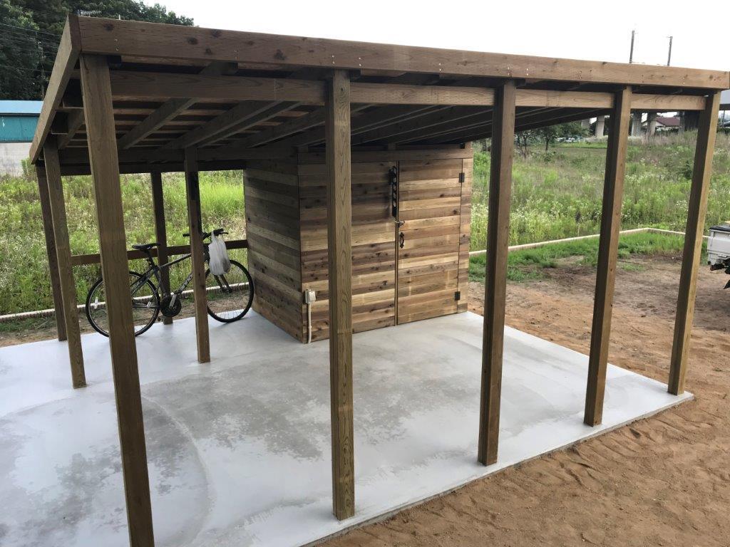 手作りの木製カーポート|埼玉県深谷市・S様邸のお庭のエクステリア工事